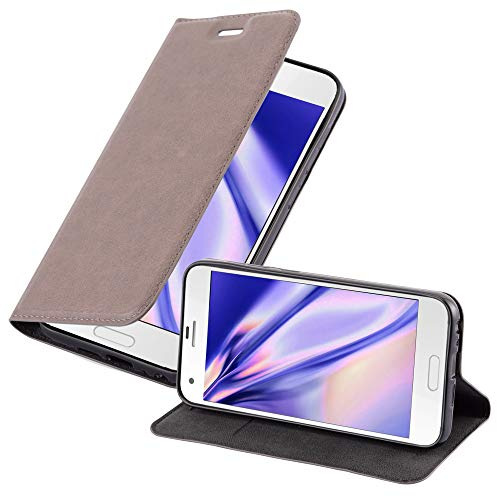 Cadorabo Hülle für HTC ONE A9S - Hülle in Kaffee BRAUN – Handyhülle mit Magnetverschluss, Standfunktion & Kartenfach - Case Cover Schutzhülle Etui Tasche Book Klapp Style
