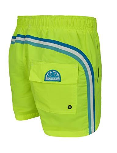 "SUNDEK Costume Uomo Original - BS/RB - Elastic Waist 14"" Pantaloncino Shorts Mare (XXL, Giallo Wow 13)"