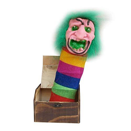 MAyouth Holz Streich Spinne Scare Box ÜBerraschung Witz Horror Lustige Halloween Streich Gag Spielzeug Scare Boxt
