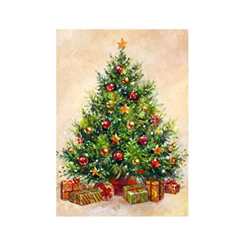 SUPVOX 1 Piezas DIY Diamante Pintura árbol de Navidad Dormitorio hogar Diamante Dibujo Rubik Cubo Cubo Bordado Punto de Cruz Kit de Punto de Cruz Diamante Completo