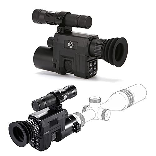 AJDGL Alcance del Rifle de visión Nocturna por Infrarrojos de Caza para una Oscuridad Completa con grabación de Video Full HD, WiFi, Zoom
