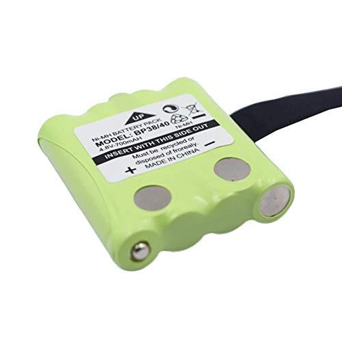 PETUNIA 4.8V 700mAh NI-MH Batería de Repuesto Walkie-Talkie Batería Adecuada para Uniden para Motorola TLKR T4 T5 T6 T7 T8 Verde