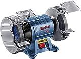 Bosch Professional GBG 60-20 - Esmeriladora de banco (600 W, doble muela, Ø de disco 200 mm, 3600 rpm, en caja)