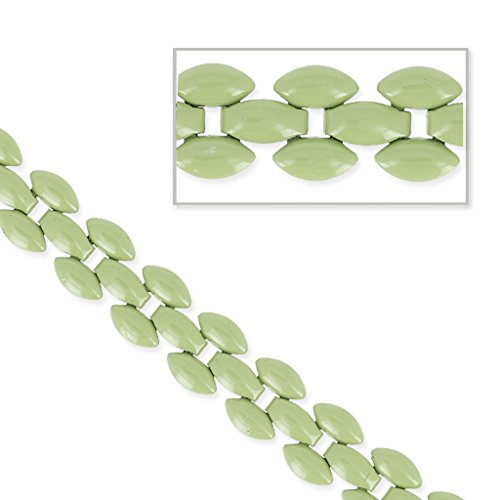 Perles & Co Kette 3 Reihen Pflaster Muster 8 mm Linde x 50cm