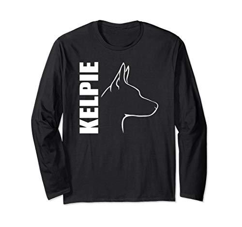 Kelpie im Profil Hund Geschenk Hunde Hundesport Agility Langarmshirt