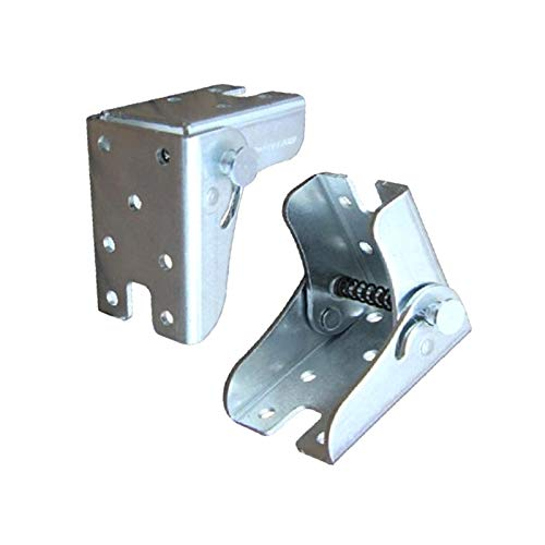 90°Self-locking Hinge Leg Accessories-used for multifunctional hinged bed, folding workbench, kitchen folding table, supporting sofa folding foot, invisible foot, furniture accessory connector (2 pcs)