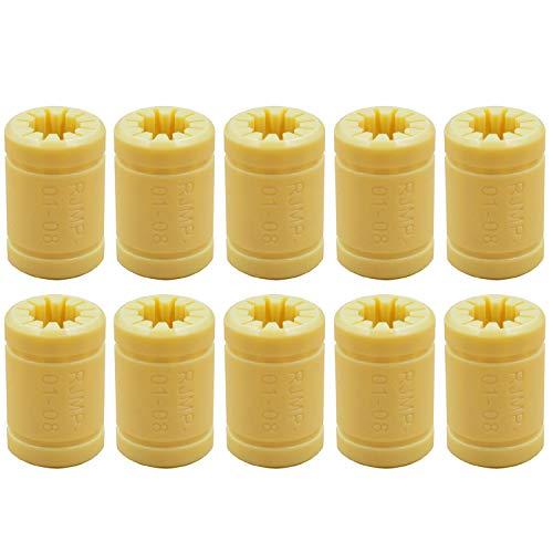 Yebobo 10 LM8UU 3D Printer Solid Polymer Bearing 8 mm Shafts for Mendel 3D Printer Parts
