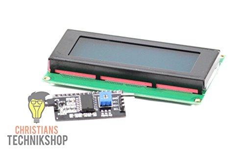 Christian's Technik Shop Bundel I2C LCD Modul 2004   20x04 Zeichen Beleuchtung Blau & I2C Modul für Arduino