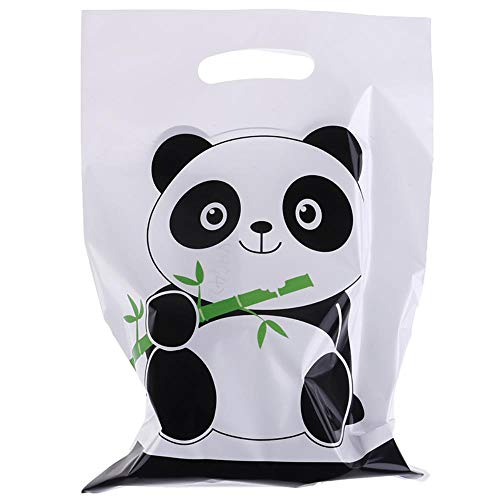 DIAZ 100st Tassen Doos Geschenkverpakking Zak Bruiloft Decor Aanbod Leuke Panda Cartoon Koekjeszak Plastic Snoep Koekjes Voedsel Taart