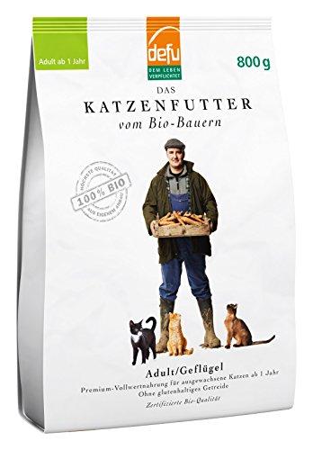 defu Trockenfutter für Katzen, Adult, Geflügel, Alleinfuttermittel, 2er Pack (2 x 800 g)