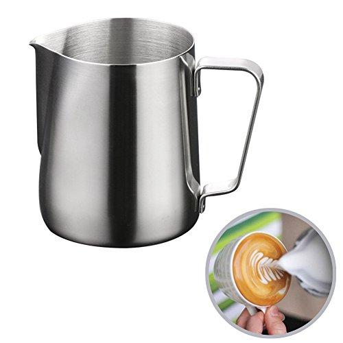 Chytaii - Jarra de leche con espuma, acero inoxidable, 600 ml
