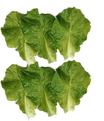 Künstliche Salatblätter, aus PVC, für Gemüse, Küche, künstliche Lebensmittel, 6 Stück
