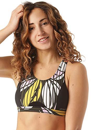 O'NEILL - Parte Superior de Bikini para Mujer, Verde AOP W Rosa o Morado, Medium