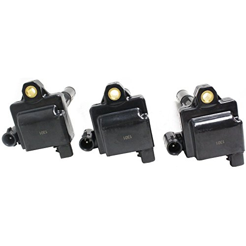Coil-on-Plug Ignition Coil compatible with Tacoma 95-04 Set Of 3 12V Female Connector 2 Male Blade Terminal