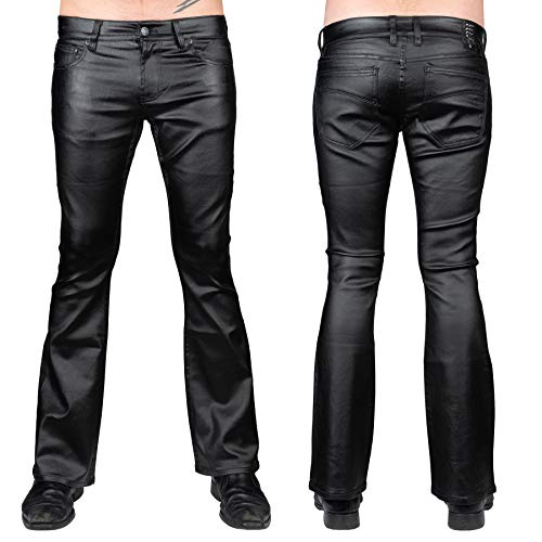 Wornstar Clothing Hellraiser Waxed Denim Pants - 34 Black