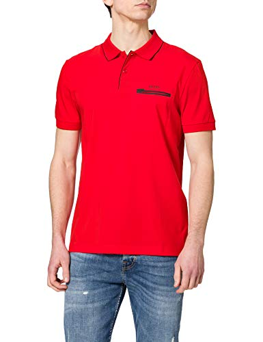 BOSS Herren Paule 9 10234064 01 Polohemd, Medium Red618, XL