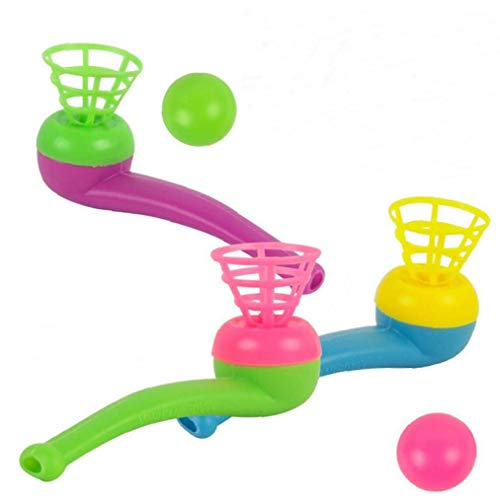 Hotaden 1pc Ball Floating Game Blow Toy Outdoor Funny Sports Pipe Child Kids Gift Educational Toys Juggling Ball