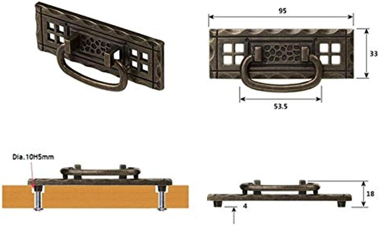 10Pcs Lot American Classic Antique Bronze Furniture Cabinet Drawer Cupboard Door Pull Handle Knob Square Plate