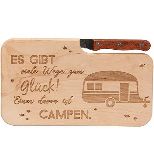 Spruchreif PREMIUM QUALITÄT 100% EMOTIONAL · Brotzeitbrett mit Messer · Brotzeitbrett mit Gravur · Holzbrett mit Messer · Geschenke für Camper · Outdoor Geschenke · Outdoor Frühstück
