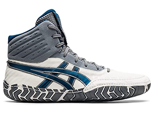 ASICS Men's Aggressor 4 Wrestling Shoes, 11, White/MAKO Blue