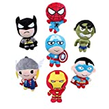 EASTVAPS 7 unids / Lote los Vengadores de Peluche de Juguete Superman Batman Spiderman Hulk Capitán América Thor Juguetes Rellenos