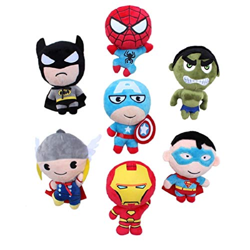 EASTVAPS 7 pz / Lotto The Avengers Peluche Superman Batman Spiderman Hulk Captain America Thor farcito Giocattoli