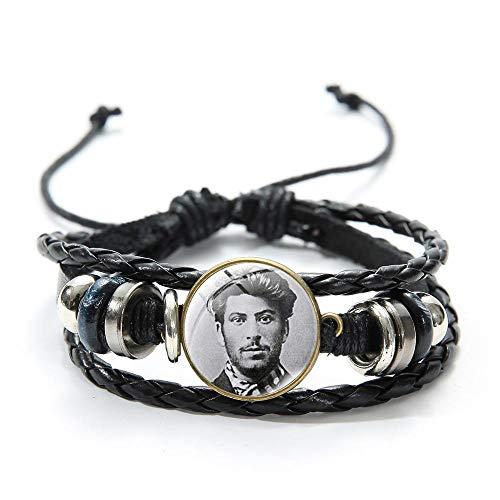 Udssr Ссср Sowjetischen Roten Stern Zeit Edelstein Lederarmband Russland Emblem Kommunismus Anweisung Bettelarmband Armband Einstellbar