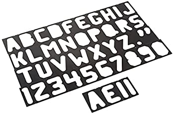 Milescraft 2201 2.5  Horizontal Letter Set - For Use with Milescraft Sign Making Kits Black