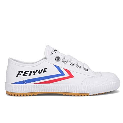 FEIYUE Authentic Fe Lo 1920 Heritage Shoe   Kung Fu Shoe   Martial Arts Shoe (White, Numeric_7)