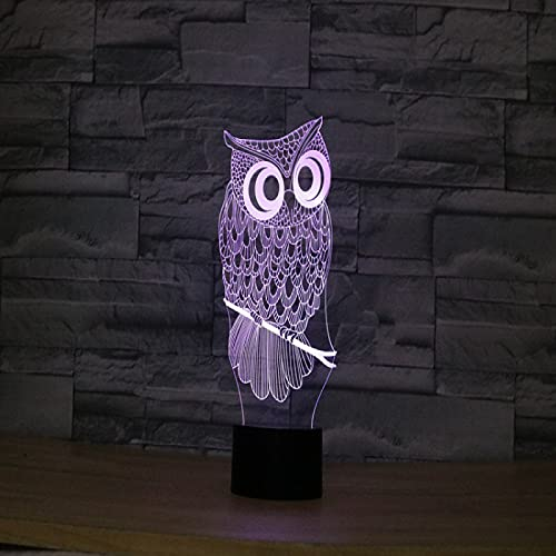 Yyhmkb Infantil Cajas Iman Cocina Movimientos Enchufe Ahorro Luz Adultos Owl Luz 3D Mesa Creativa Luz De Escritorio Luz De Regalo De Navidad