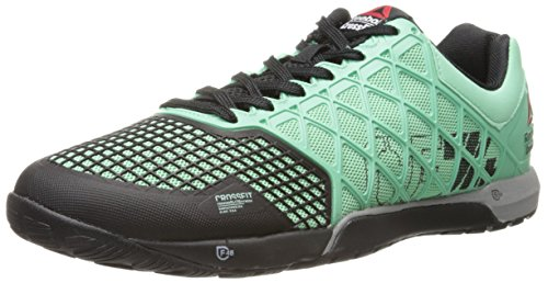 Reebok Men's Crossfit Nano 4.0 Training Shoe, Mint Glow/Black/Metallic Silver, 8 M US