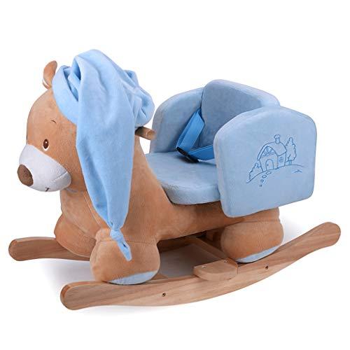 Rocking Horse Mecedora de Juguete para bebé con diseño de Caballo balancín de 65 x 35 x 44 cm