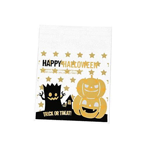 Yisily Bolsas De Galletas De Halloween Calabaza Modelo De Estrella Autosellante De Alimentos Bolsas De Embalaje Pequeña Galleta Bolsas De Dulces Estallido De La Torta 100 Piezas De Cookies