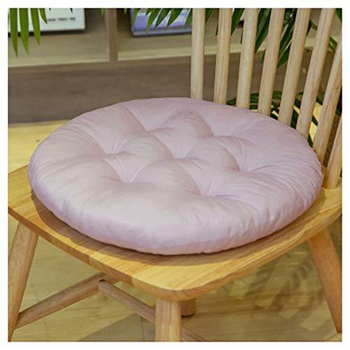 Cojín redondo para silla, cojín de algodón, cojín de garganta, cojín de jardín, para silla de jardín, cocina o comedor (azul, 40 x 40 cm) A-Asche