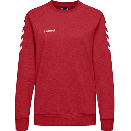 Hummel Damen Pullover Go Cotton Sweatshirt Woman 203507 True Red XL