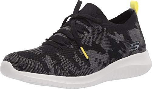Skechers Women's Ultra Flex-Wild Pursue Sneaker, Black/Grey, 10 M US