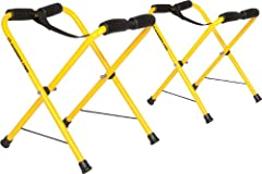 """Light Weight Aluminum Construction using Stainless Steel Hardware Folds into Compact Mesh Carry Bag Indoor and Outdoor use Stands 17"""" tall; Very Stable on Uneven Ground Holds up to 100 lbs Light Weight Aluminum Construction using Stainless Steel Hard..."""