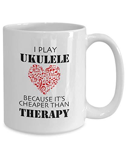 Ukulele Koffie Mok i Speel Ukulele Omdat het goedkoper dan Therapie Muzikale Liefhebbers Instrumenten Spelers Gift Ideeën