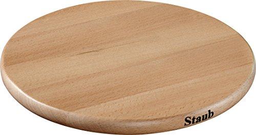 STAUB Accessoires Magnetischer Topfuntersetzer, rund 23 cm, Holz