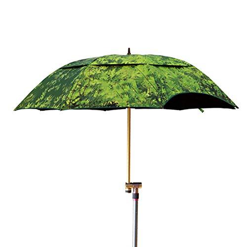 JRP Paraguas de Pesca,De Gran tamaño Doble Capa Plegable Sombra Paraguas a Prueba de Lluvia Espesar/Ejercito Verde / 191 * 220CM