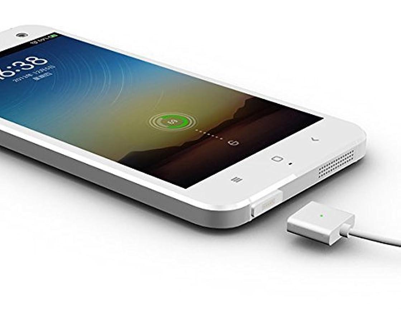 にはまってティッシュアプローチ【 急速充電対応 】 マグネット充電ケーブル microUSB 磁力 磁性 スマートフォン タブレット プレイヤー 給電 mCable for Android SD-MCABLE-AD