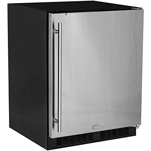 "Marvel 24"" ADA All-Refrigerator, stainless steel door, right hinge"