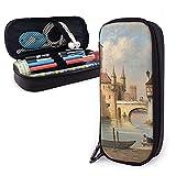 XCNGG Estuche para lápices neceser Pencil Case/Big Capacity Makeup/Pen Pouch/Durable Students Stationery - Cityscape