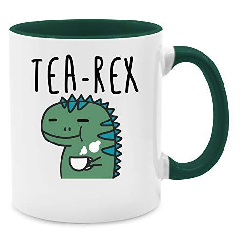 Shirtracer Tasse mit Spruch - Tea-Rex - Unisize - Petrolgrün - teetasse...