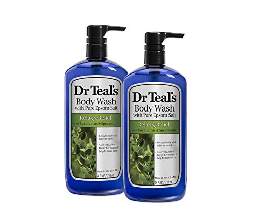 Dr. Teal's Ultra Moisturizing Body Wash, Relax & Relief with Eucalyptus Spearmint 24 fl oz (pack of 2) by Dr. Teal's