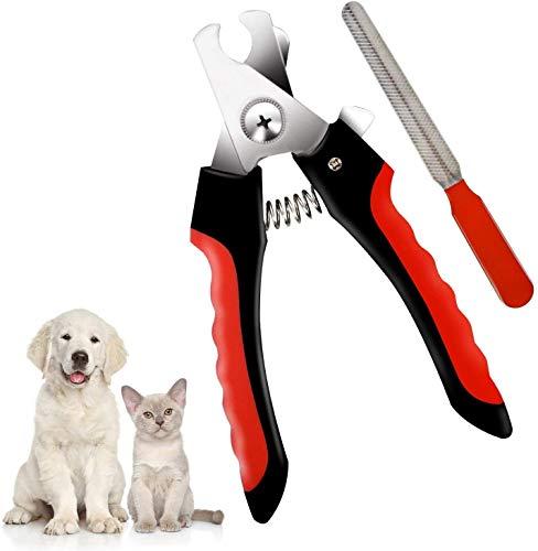 Dreamon Tronchesino Unghie Tagliaunghie per Cane Accessori Animali con Guardia di Sicurezza & File Regali per Cani per Cucciolo di Gatto Grande