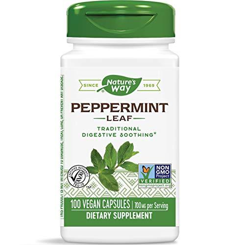 Nature's Way Premium Herbal Peppermint Leaf, 700 mg per serving, 100 Capsules