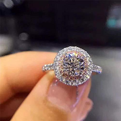 LuckyOne Anillo de oro 100% real de 18 quilates para las mujeres natural AAA Moissanita joyería piedras preciosas anillos de Bizuteria ajuste de tensión mini anillo de diamante