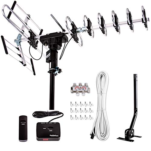 [Newest 2021] Five Star Outdoor Digital Amplified HDTV Antenna - up to 200 Mile Long...