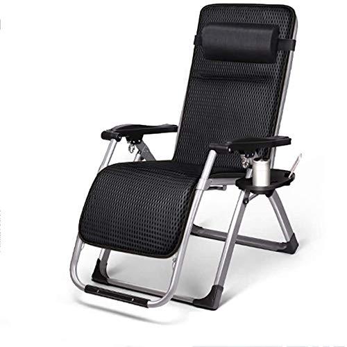 Sillas de camping Oficina de la almuerzo Tumbona plegable portable de la silla ajustable y transpirable Balcón Ocio Respaldo Sun Silla camping al aire libre silla de playa, 200 Kg de carga, longitud 1